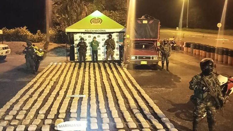 Incautan 600 kilos de marihuana en el norte del Cauca