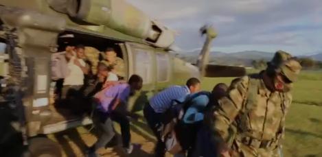 Ejercito evacúa a líderes sociales de Argelia