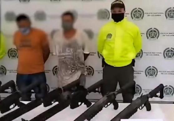 Capturados con fusiles y lanzagranadas en Cajibío