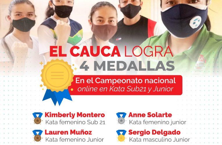 Karate caucano logra medallas en torneo virtual
