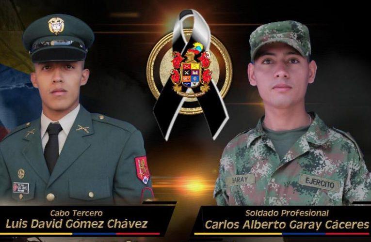 Mueren dos militares en campo minado