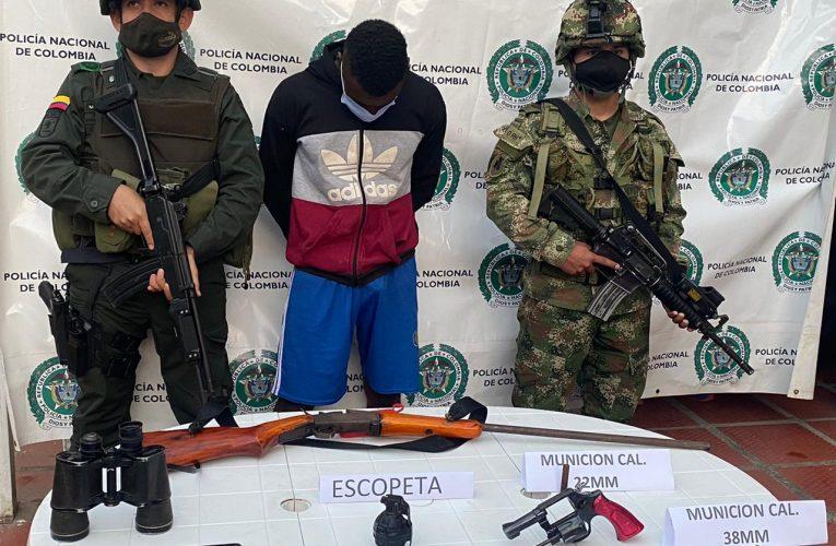 Capturado alias Moyo miembro de las disidencias en el norte del Cauca