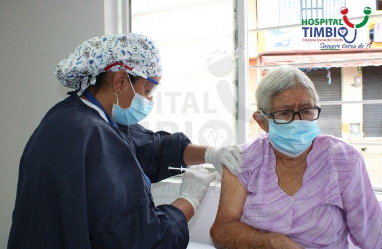 Avanza vacunación contra Covid19 en Timbío